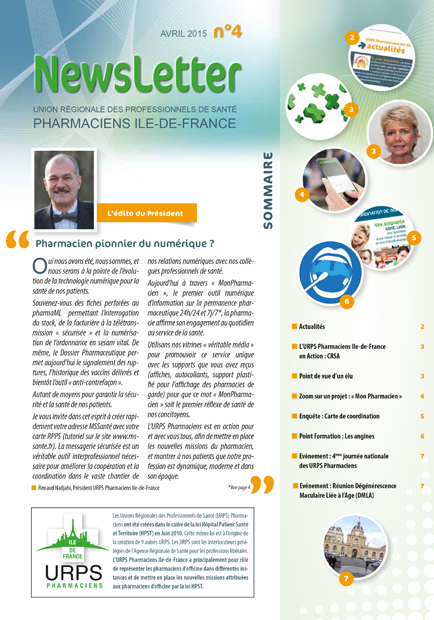 Newsletter AVRIL 2015