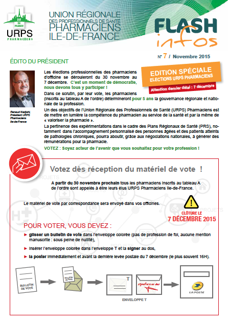 Flash infos NOVEMBRE 2015